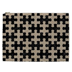 Puzzle1 Black Marble & Sand Cosmetic Bag (xxl)  by trendistuff