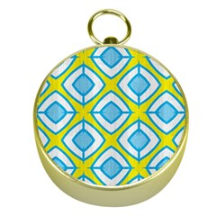 Blue Rhombus Pattern                                Gold Compass by LalyLauraFLM