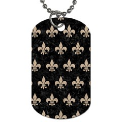 Royal1 Black Marble & Sand Dog Tag (one Side) by trendistuff
