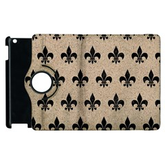 Royal1 Black Marble & Sand (r) Apple Ipad 3/4 Flip 360 Case by trendistuff