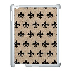 Royal1 Black Marble & Sand (r) Apple Ipad 3/4 Case (white) by trendistuff