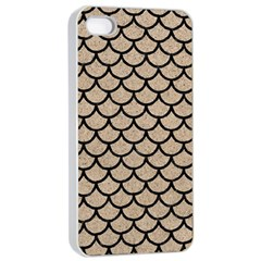 Scales1 Black Marble & Sand Apple Iphone 4/4s Seamless Case (white) by trendistuff