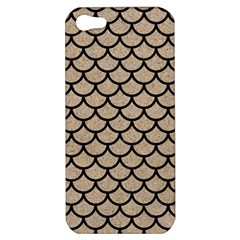 Scales1 Black Marble & Sand Apple Iphone 5 Hardshell Case by trendistuff