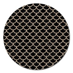 Scales1 Black Marble & Sand (r) Magnet 5  (round) by trendistuff