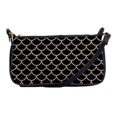 Scales1 Black Marble & Sand (r) Shoulder Clutch Bags by trendistuff