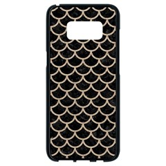 Scales1 Black Marble & Sand (r) Samsung Galaxy S8 Black Seamless Case by trendistuff