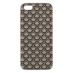 Scales2 Black Marble & Sand Apple Iphone 5 Premium Hardshell Case by trendistuff