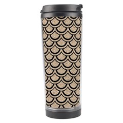 Scales2 Black Marble & Sand Travel Tumbler by trendistuff