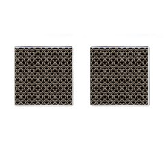 Scales2 Black Marble & Sand (r) Cufflinks (square) by trendistuff