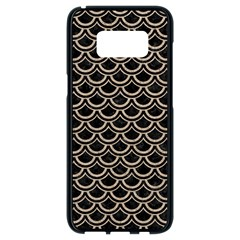 Scales2 Black Marble & Sand (r) Samsung Galaxy S8 Black Seamless Case by trendistuff