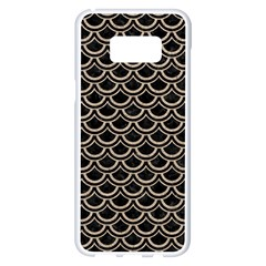 Scales2 Black Marble & Sand (r) Samsung Galaxy S8 Plus White Seamless Case