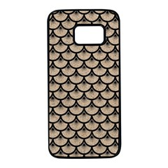 Scales3 Black Marble & Sand Samsung Galaxy S7 Black Seamless Case
