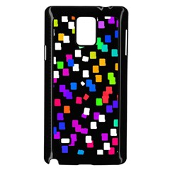 Colorful Rectangles On A Black Background                           Samsung Galaxy Note 4 Case (color) by LalyLauraFLM