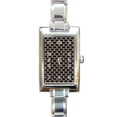 Scales3 Black Marble & Sand (r) Rectangle Italian Charm Watch by trendistuff
