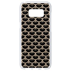 Scales3 Black Marble & Sand (r) Samsung Galaxy S8 White Seamless Case by trendistuff