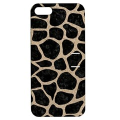 Skin1 Black Marble & Sand Apple Iphone 5 Hardshell Case With Stand by trendistuff
