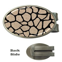 Skin1 Black Marble & Sand (r) Money Clips (oval)  by trendistuff