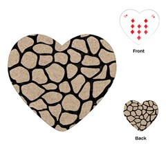 Skin1 Black Marble & Sand (r) Playing Cards (heart)  by trendistuff