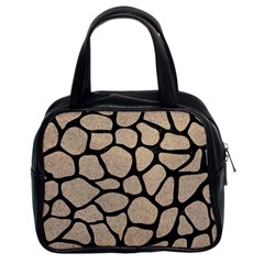 Skin1 Black Marble & Sand (r) Classic Handbags (2 Sides) by trendistuff