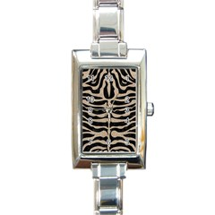 Skin2 Black Marble & Sand (r) Rectangle Italian Charm Watch by trendistuff