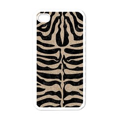 Skin2 Black Marble & Sand (r) Apple Iphone 4 Case (white) by trendistuff