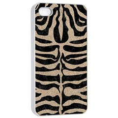 Skin2 Black Marble & Sand (r) Apple Iphone 4/4s Seamless Case (white) by trendistuff