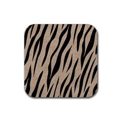 Skin3 Black Marble & Sand Rubber Square Coaster (4 Pack)  by trendistuff