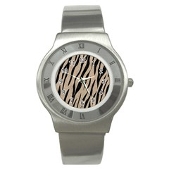 Skin3 Black Marble & Sand Stainless Steel Watch by trendistuff