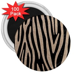 Skin4 Black Marble & Sand 3  Magnets (100 Pack) by trendistuff