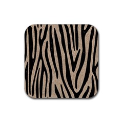 Skin4 Black Marble & Sand (r) Rubber Coaster (square)  by trendistuff