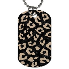 Skin5 Black Marble & Sand Dog Tag (one Side) by trendistuff