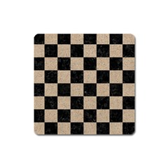 Square1 Black Marble & Sand Square Magnet by trendistuff