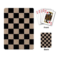 Square1 Black Marble & Sand Playing Card by trendistuff