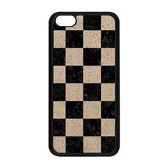 Square1 Black Marble & Sand Apple Iphone 5c Seamless Case (black) by trendistuff
