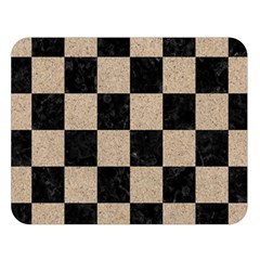 Square1 Black Marble & Sand Double Sided Flano Blanket (large)  by trendistuff
