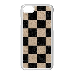 Square1 Black Marble & Sand Apple Iphone 8 Seamless Case (white) by trendistuff