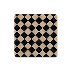 Square2 Black Marble & Sand Square Magnet by trendistuff