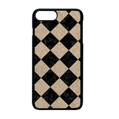 Square2 Black Marble & Sand Apple Iphone 7 Plus Seamless Case (black) by trendistuff