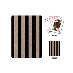 Stripes1 Black Marble & Sand Playing Cards (mini)  by trendistuff
