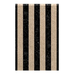 Stripes1 Black Marble & Sand Shower Curtain 48  X 72  (small)  by trendistuff