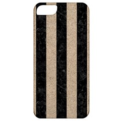 Stripes1 Black Marble & Sand Apple Iphone 5 Classic Hardshell Case by trendistuff