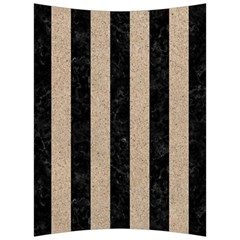 Stripes1 Black Marble & Sand Back Support Cushion by trendistuff