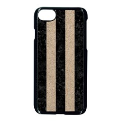 Stripes1 Black Marble & Sand Apple Iphone 8 Seamless Case (black) by trendistuff