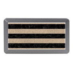 Stripes2 Black Marble & Sand Memory Card Reader (mini) by trendistuff