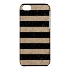 Stripes2 Black Marble & Sand Apple Iphone 5c Hardshell Case by trendistuff