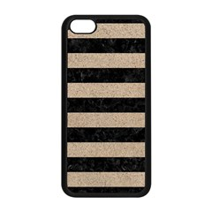 Stripes2 Black Marble & Sand Apple Iphone 5c Seamless Case (black) by trendistuff