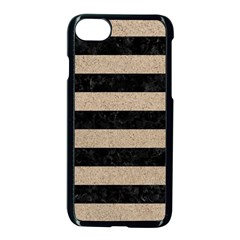 Stripes2 Black Marble & Sand Apple Iphone 8 Seamless Case (black) by trendistuff