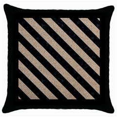 Stripes3 Black Marble & Sand Throw Pillow Case (black)