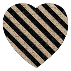Stripes3 Black Marble & Sand Jigsaw Puzzle (heart) by trendistuff