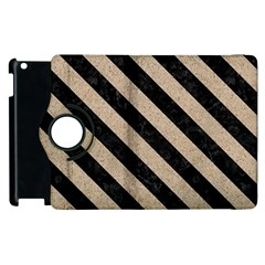 Stripes3 Black Marble & Sand Apple Ipad 2 Flip 360 Case